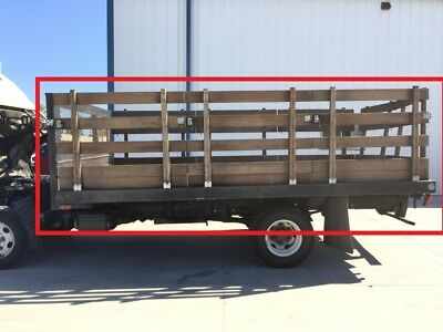 USED 14 STAKEBED FLATBED BODY From 99 ISUZU NPR W4500 SERIES TRUCK NEEDS