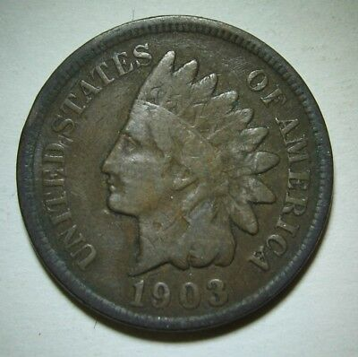 1903 Indian Head Cent in Average Circulated Condition    DUTCH AUCTION