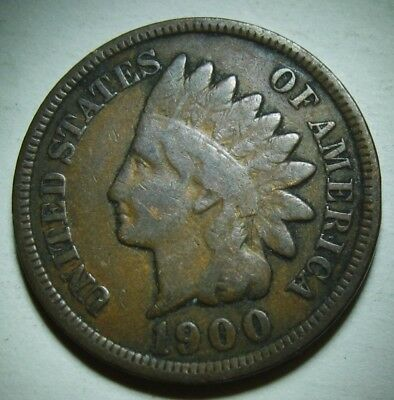 1900 Indian Head Cent in Average Circulated Condition    DUTCH AUCTION