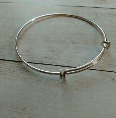 Adjustable Bangle Bracelet Wire Bangle Bracelet Silver Bangle Adjustable Blank