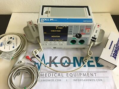 ZOLL M Series 3 Lead ECG Pacing AED With PADLLE