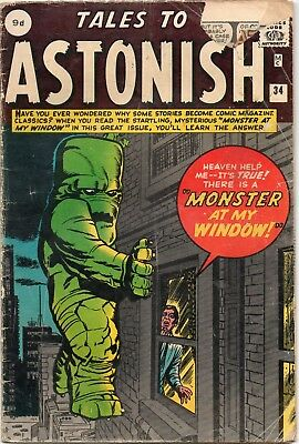 Tales To Astonish # 34 / Good / Marvel 1962 / Kirby / Ditko.