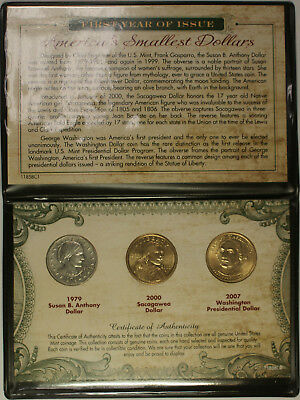First Year of Issue America's Smallest Dollars Set with COA