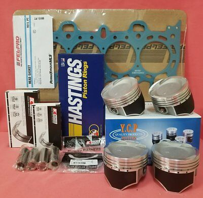 NPR YCP 75mm Vitara Pistons Low Comp Gasket Honda Civic D16 Turbo Bearings