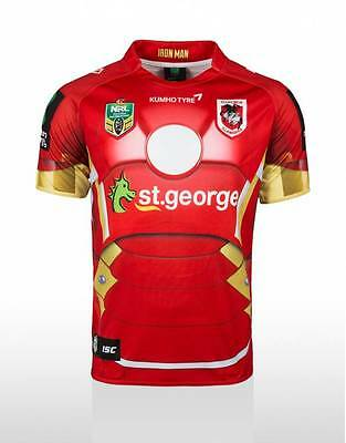St George Illawarra Dragons NRL ISC Marvel Iron Man Jersey Sizes S-5XL! 5