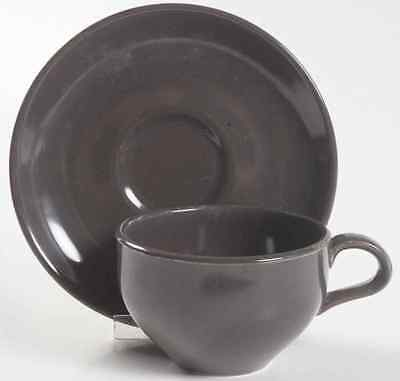Iroquois CASUAL CHARCOAL Cup & Saucer S6302100G2
