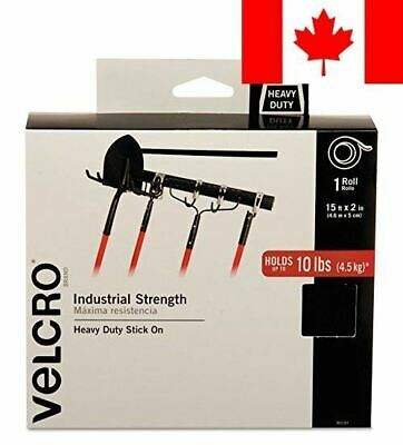 "VELCRO Brand  - Industrial Strength - 2"" Wide Tape, 15' - Black"