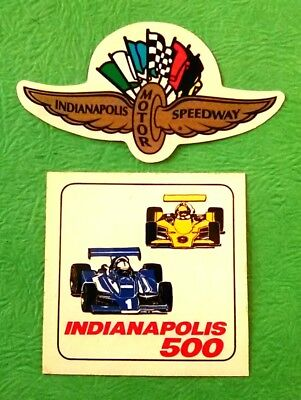 Indianapolis motor speedway wings flags wheel race car sticker decal indy 500