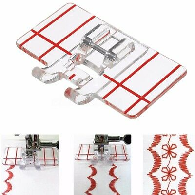 Plastic Parallel Stitch Foot Presser For Brother Singer Janome Domestic Sewing