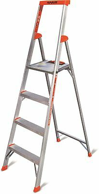 Little Giant 4 Step Ladder Aluminum Lightweight Climbing Silver Heavy Duty Work