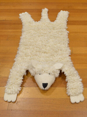 KIDS  RUG CHILDREN ROOM FLOOR Animal SKIN Sheep Rug RUG WOOLEN RUG CHILDREN RUGS