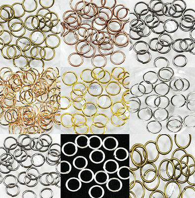 New 4/5/6/8/10/12/14mm Split Jump Rings Open Connector Jewelry Finding DIY Hot