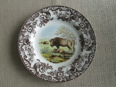 SPODE WOODLAND BISON LARGE DINNER  PLATE  NEW MADE IN ENGLAND  (c)