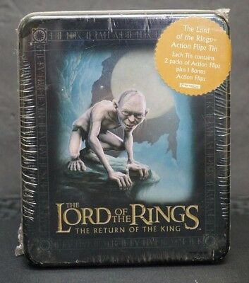 Sealed Lord Of The Rings *return Of King* Movie Cards/packs Action Flipz Tin