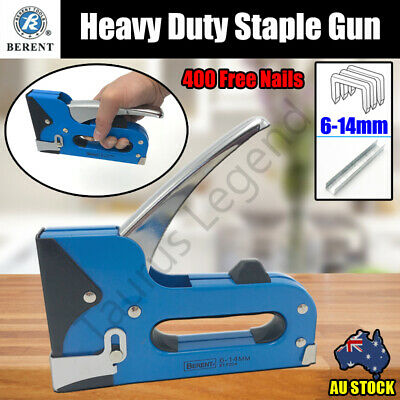 6-14mm Heavy Duty Staple Gun Stapler Upholstery 400 Nails Fastener Tool Kit