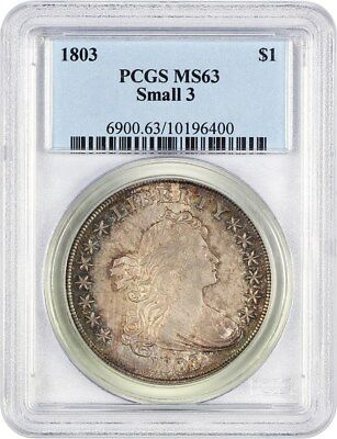 1803 $1 PCGS MS63 - Beautiful Bust Dollar - Bust Silver Dollar