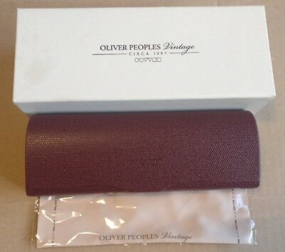Oliver Peoples Glasses Case (New in Box) with Cleaning Cloth *Vintage - Rare*