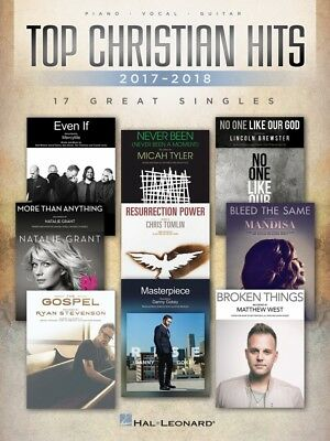 Top Christian Hits of 2017-2018 Sheet Music 17 Great Singles Piano Voc 000267313