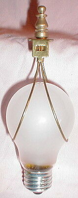 Bulb clip lampshade adapter & finial lamp old antique