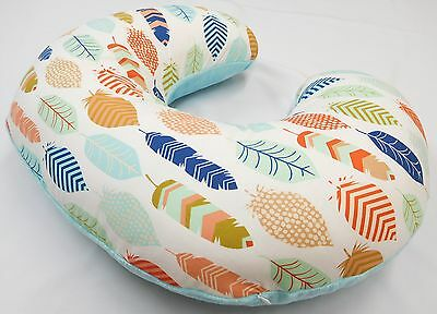 Feather multi color print (blue, coral, aqua, peach, mint...) Boppy Cover