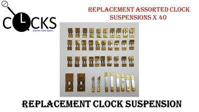 40x Brass Assorted Clock Pendulum Suspension Springs, French,German, UK Seller
