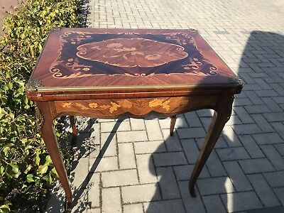 French Card Table with Backgammon Inlaid Style with Ormolu Mounts Stunning