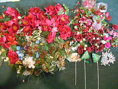 Loose silk flowers gallery flower decoration ideas huge lot of loose silk flowers a tiny silk satin rosebuds christmas silk flowers pinecones loose mightylinksfo Gallery