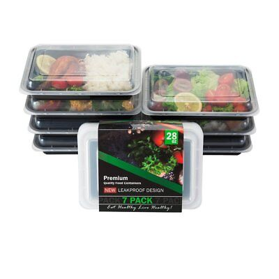 Food Storage Container Meal Prep Container Take Out Bento Box, 7 Pack, No Tax