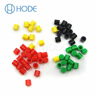 100PCS Tactile Push Button Switch Cap Mutil-Color for 6x6 Series Switch New UK