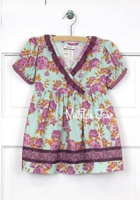 NWT Matilda Jane Girls 2 Secret Fields Lilac Bouquet Top NEW