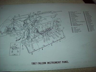 1967 FORD FAIRLANE wiring diagram 11X17 17 Pages GT 500 XL Club Coupe Wagon  - $22.99 | PicClickPicClick