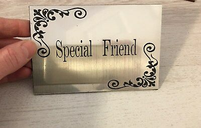 Stainless steel plaque effect Personalised Memorial Plaque Engraved Bench sign