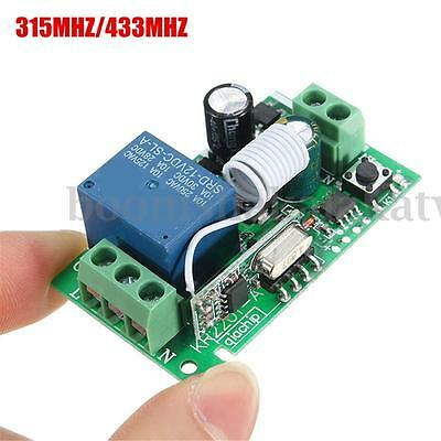RF 315/433MHz 220V 10A 1CH Channel Wireless Relay Remote Control Switch Receiver