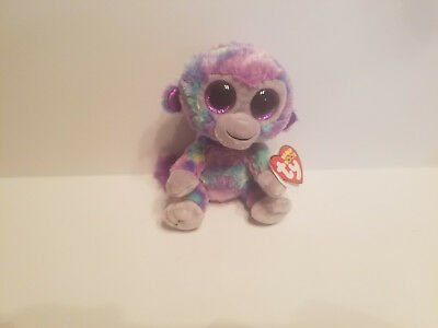 385f0dcf651 Authentic Ty Beanie Boo ZURI the monkey 6 inch size. New and Mint with tags