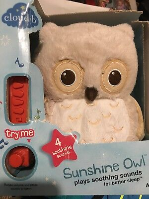 New Cloud B Sunshine Owl Sound Soothers Sleep Machine Natural