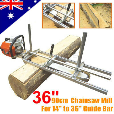 Fit 14''-36'' Chainsaw Guide bar Chain Saw Mill Log Planking Lumber Cutting Tool