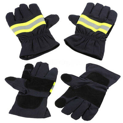2PCS Fire Protective Gloves Anti-fire Fire Proof Waterproof Heat-proof Gloves