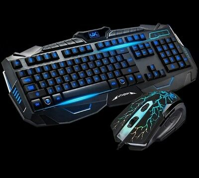 Tastiera + mouse da gioco, led retroilluminata RGB LED.Gaming keyboard pro gamer