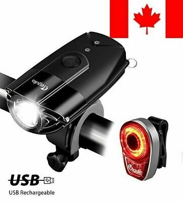 LED Bike Headlight Taillight Combo, Megulla USB Rechargeable Bike Light Set, ...