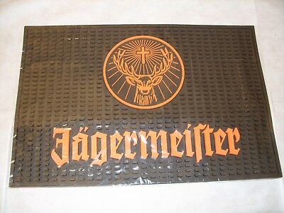 "Jagermeister Square Rubber Bar Cocktail Spill Mat Barware 18"" X 12"" Brand New"