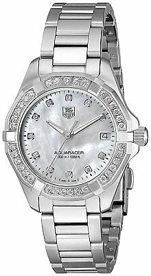 e7da4f43ad664 Tag Heuer Women s WAY1314.BA0915  Aquaracer  Diamond Stainless Steel Watch