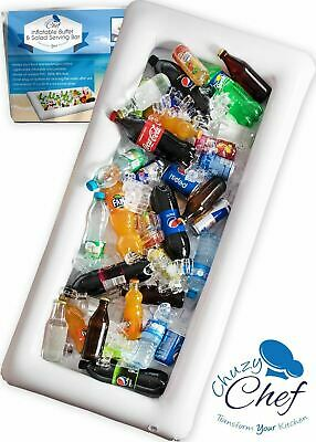 Inflatable Serving Bar, Buffet Salad Food & Drink Tray, Party Food Cooler wit...