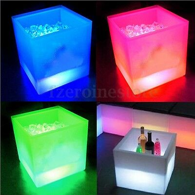3.5L Large Colour Changing LED Ice Cooler Bucket Party Bar Beer Wine Drinks Box