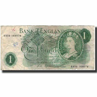 [#591198] Banknote, Great Britain, 1 Pound, 1966-1970, KM:374e, VG(8-10)