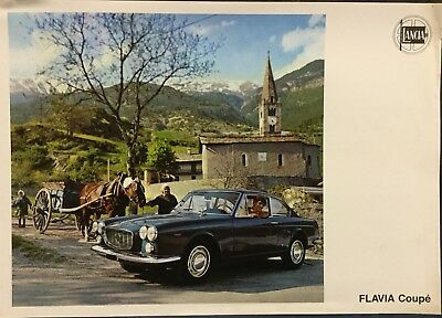 Rare Catalogue 1967 LANCIA FLAVIA COUPÉ !!!!