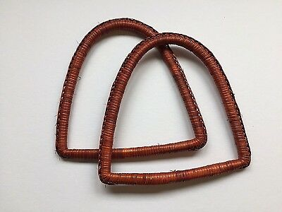 Pair of Bamboo Basket Hand Bag Handles - Choose from assorted designs