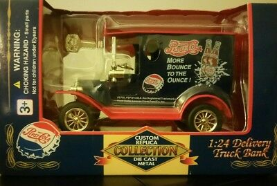 Pepsi-Cola Die Cast Delivery Truck Bank