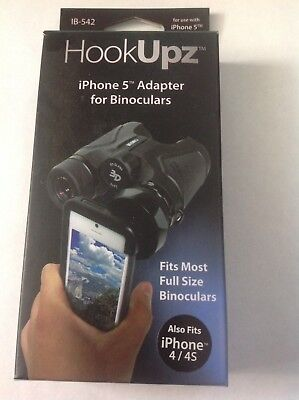 Carson HookUpz iPhone 4/4S/5 Binocular Adapter for Most Full Sized.