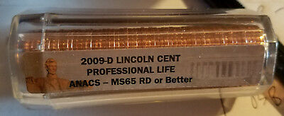 2009 P & D Professional Life Lincoln Cent Rolls ANACS MS65 or better
