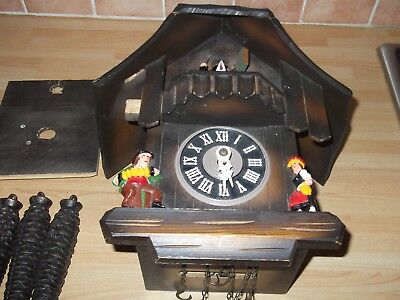 vintage musical chalet cuckoo clock ...spares / repair tlc